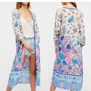 Other - Floral blue KIMONO Siren Song Duster Coverup